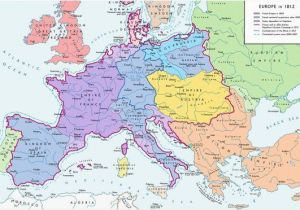 Map Of Hungary In Europe A Map Of Europe In 1812 at the Height Of the Napoleonic