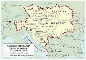 Map Of Hungary In Europe Austro Hungarian Empire 1914 Hungary Austro Hungarian