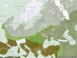 Map Of Ice Age Europe Ice Age Europe