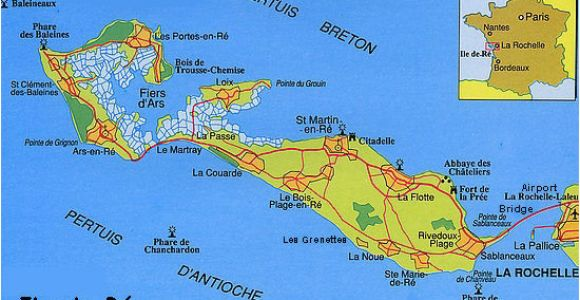 Map Of Ile De Re France France S Western isles Ile De Re France Zone at Abelard org