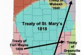 Map Of Indiana and Michigan Miami Treaties In Indiana Maps Indiana Native American History