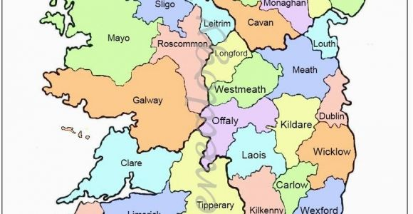 Map Of Ireland Showing the Counties Map Of Counties In Ireland This County Map Of Ireland Shows All 32