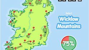 Map Of Ireland with Mountains Know Your Ireland