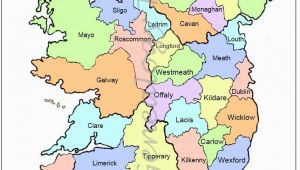 Map Of Ireland with towns and Counties Map Of Counties In Ireland This County Map Of Ireland