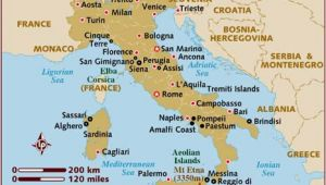 Map Of Italy and Mediterranean Sea Map Of Italy