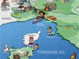 Map Of Italy and Sardinia Italy northwestern Regions Map Sardinia Map Illustration Travel