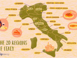 Map Of Italy Regions and Capitals Map Of the Italian Regions