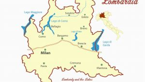 Map Of Italy Showing Lake Garda Lombardy and Italian Lakes Cities Map and Travel Guide