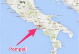Map Of Italy Showing Pompeii Pompeii Italy Map Pompeii Italia Kart Stuff Pompeii Italy