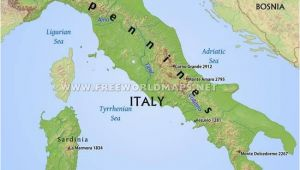 Map Of Italy with Mountains and Rivers Simple Italy Physical Map Mountains Volcanoes Rivers islands