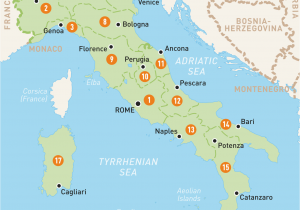 Travel Map Of Italy With Cities.Map Of Italy With Towns And Cities Travel Maps Of The Italian Region