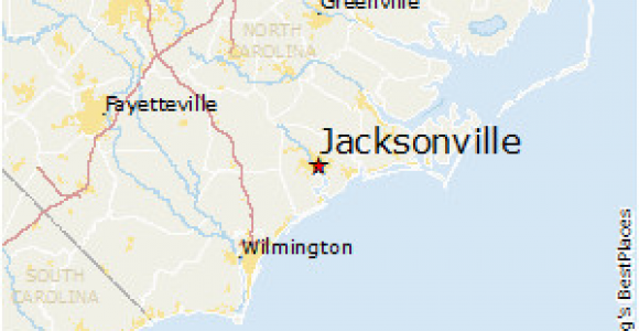 Map Of Jacksonville north Carolina Map Of Jacksonville north Carolina Bnhspine Com