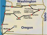 Map Of Jacksonville oregon Route Map oregon Hiking Trails 14 Day tour Travel oregon
