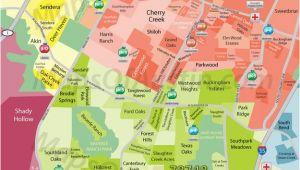Map Of Katy Texas south Austin Tx Neighborhood Map Austin Texas In 2019 Austin