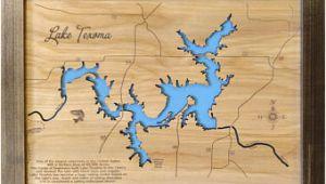 Map Of Lake fork Texas Texas Lake Map Etsy