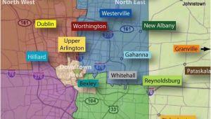 Map Of Lewis Center Ohio Map Of Columbus Ohio and Surrounding Suburbs Secretmuseum