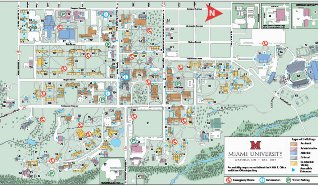 Map Of Lewis Center Ohio Oxford Campus Maps Miami University ...