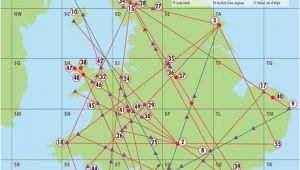 Map Of Ley Lines In England A Map Of Englands Ley Lines and A Key Of Sacred Sites that