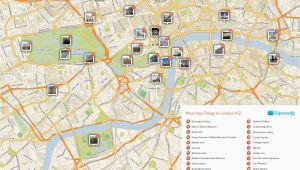 Map Of London England area Map Of London with Must See Sights and attractions Free