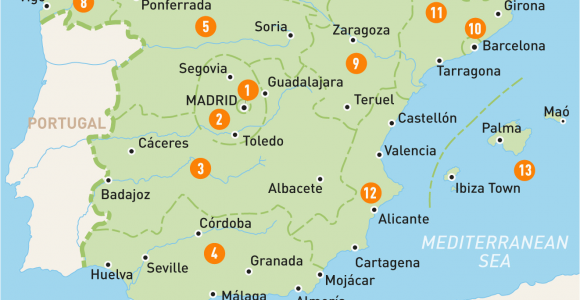 Map Of Major Cities In Spain Map Of Spain Spain Regions Rough Guides