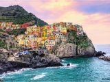 Map Of Manarola Italy Fotografija Colorful Houses On A Rock In Manarola Cinque Terre