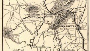 Map Of Marietta Georgia Map Of Marietta In 1864 Marietta Com