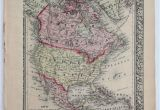 Map Of Maritime Canada Details About 1860 Mitchell S Huge Hand Tinted Colored Map