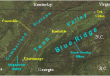Map Of Maryville Tennessee Landform Map Of Tennessee Major Landforms Of East Tennessee