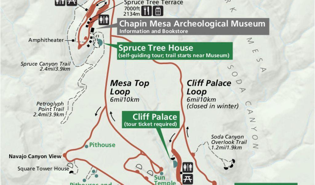 Map Of Mesa Verde National Park In Colorado Mesa Verde Maps Npmaps ...
