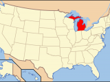Map Of Michigan and Great Lakes List Of islands Of Michigan Wikipedia