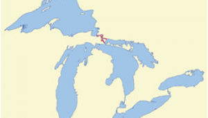 Map Of Michigan and Ontario List Of islands Of Michigan Wikipedia