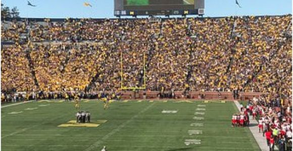 Map Of Michigan Stadium north End and Student Section Picture Of Michigan Stadium Ann