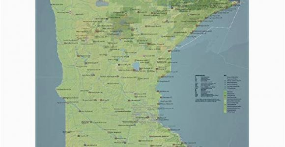 Map Of Michigan Wisconsin and Minnesota Map Of Minnesota Amazon Com
