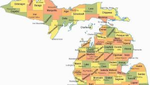 Map Of Michigan with Counties Michigan Counties Map Maps Pinterest Michigan County Map and