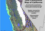 Map Of Mid California California Glaciation Ice Age Coastal Maps Historical Maps Map