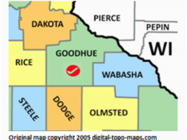 Map Of Minnesota by County Goodhue County Minnesota