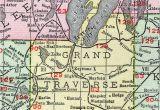 Map Of Monroe County Michigan Grand Traverse County Michigan 1911 Map Rand Mcnally Traverse