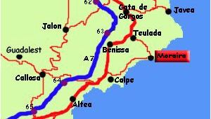 Map Of Moraira Spain Moraira Spain Moraira Spain Spain Destinations Javea