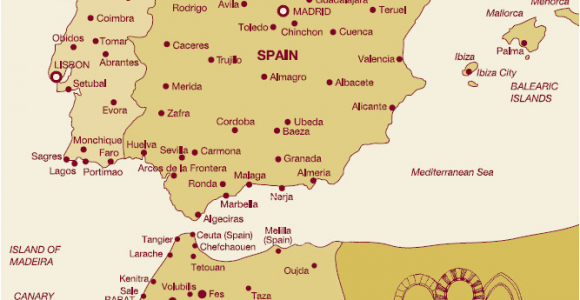 Map Of Morocco and Spain with Cities Gr Maps Spain 2019