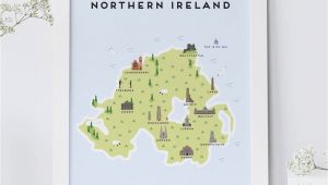 Map Of N Ireland Map Of northern Ireland Print