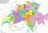 Map Of Napoleon Ohio Helvetian Republic 1802 Aaa Map History Und Switzerland
