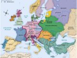 Map Of Napoleonic Europe 442referencemaps Maps Historical Maps World History