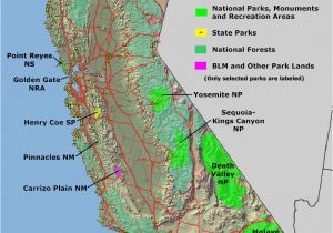 Map Of National Parks In California National Parks Photography Gallery Sites National Park Map