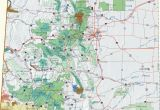 Map Of National Parks In Colorado Colorado Dispersed Camping Information Map
