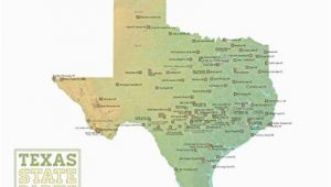 Map Of National Parks In Texas Amazon Com Best Maps Ever Texas State Parks Map 18×24 Poster Green