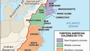 Map Of New England Colonies Middle and southern Proclamation Of 1763 History Map Significance Facts