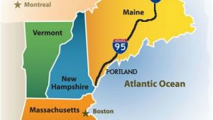 Map Of New England States Usa Greater Portland Maine Cvb New England Map New England