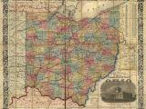 Map Of Newark Ohio Railroad Rail Train Historic Map Ohio 1854 Products Pinterest