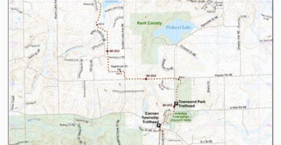 Map Of Newaygo County Michigan West Michigan Mi Maps 144 164 north Country Trail association