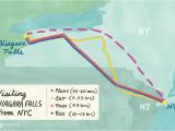 Map Of Niagara Falls Canada Hotels Visiting Niagara Falls From New York City